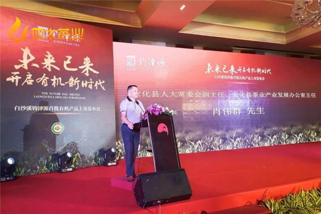 安化县茶叶办主任,安化县人大常委会副主任肖伟群